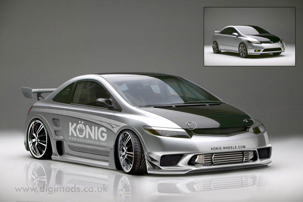 08 Civic Si Coupe rear spoiler size - 8th Generation Honda ...