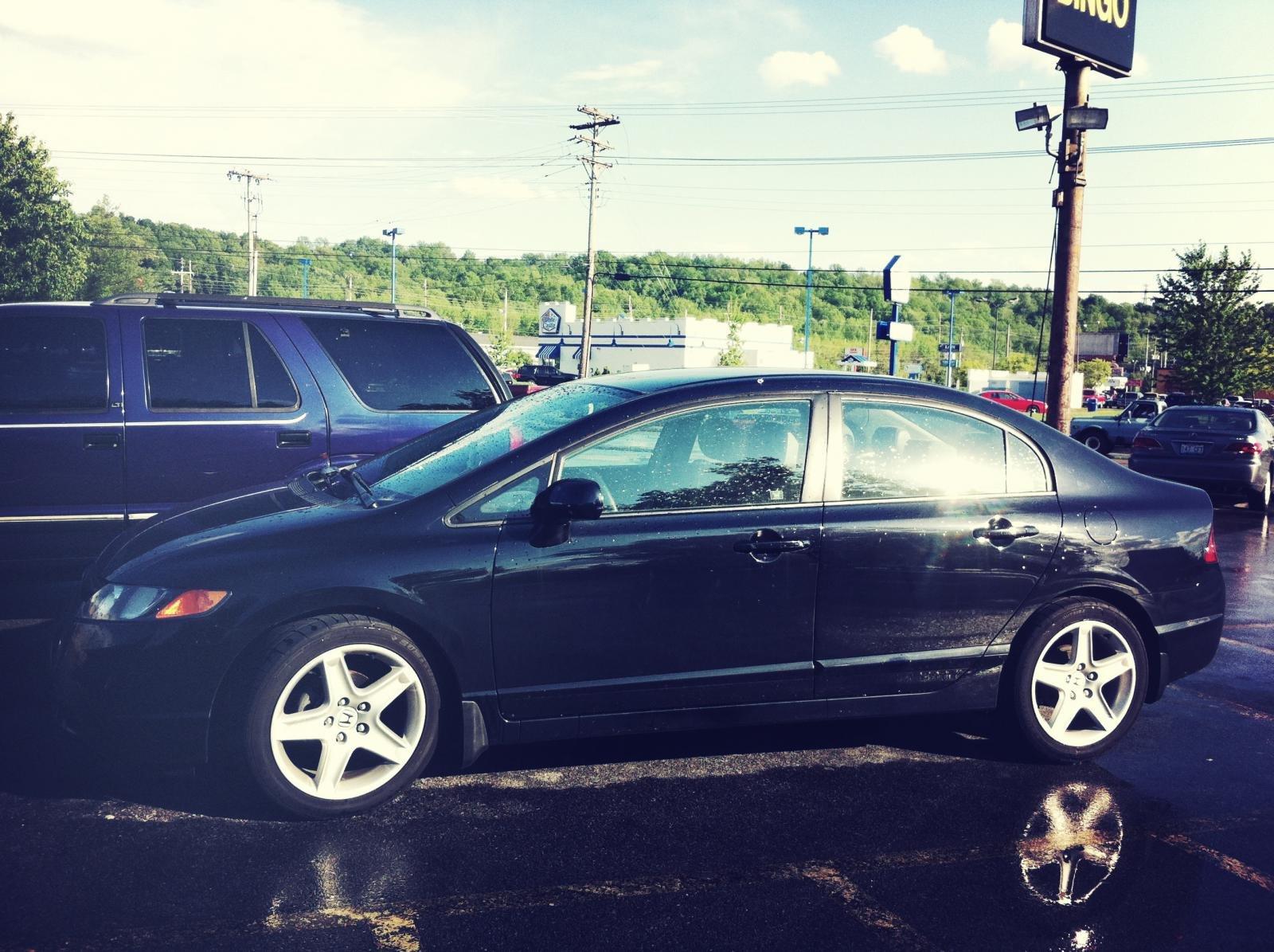 Acura TL Rims On Sedan LX Th Generation Honda Civic Forum - Acura tl rims black