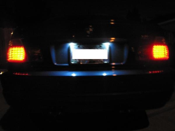 License plate led lights illegal