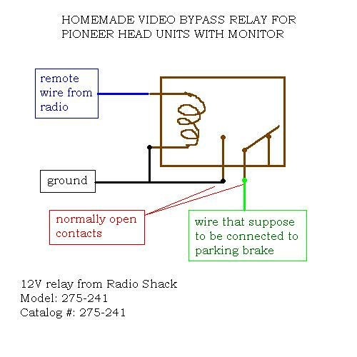 DIY: video bypass relay for Pioneer head units with lcd