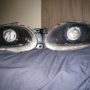 98-03 escort zx2  fx45 w/fx-r clear lenses ocular shrouds everything blacked out