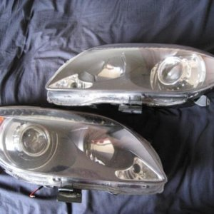 05-07 tc   fx with tsx-r lens e46 shrouds led parking lights in eyebrow
